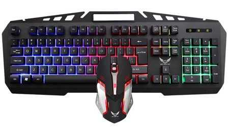 X310 Mechanical Gaming Keyboard and Mouse Universal Combo 2400 DPI With Backlight