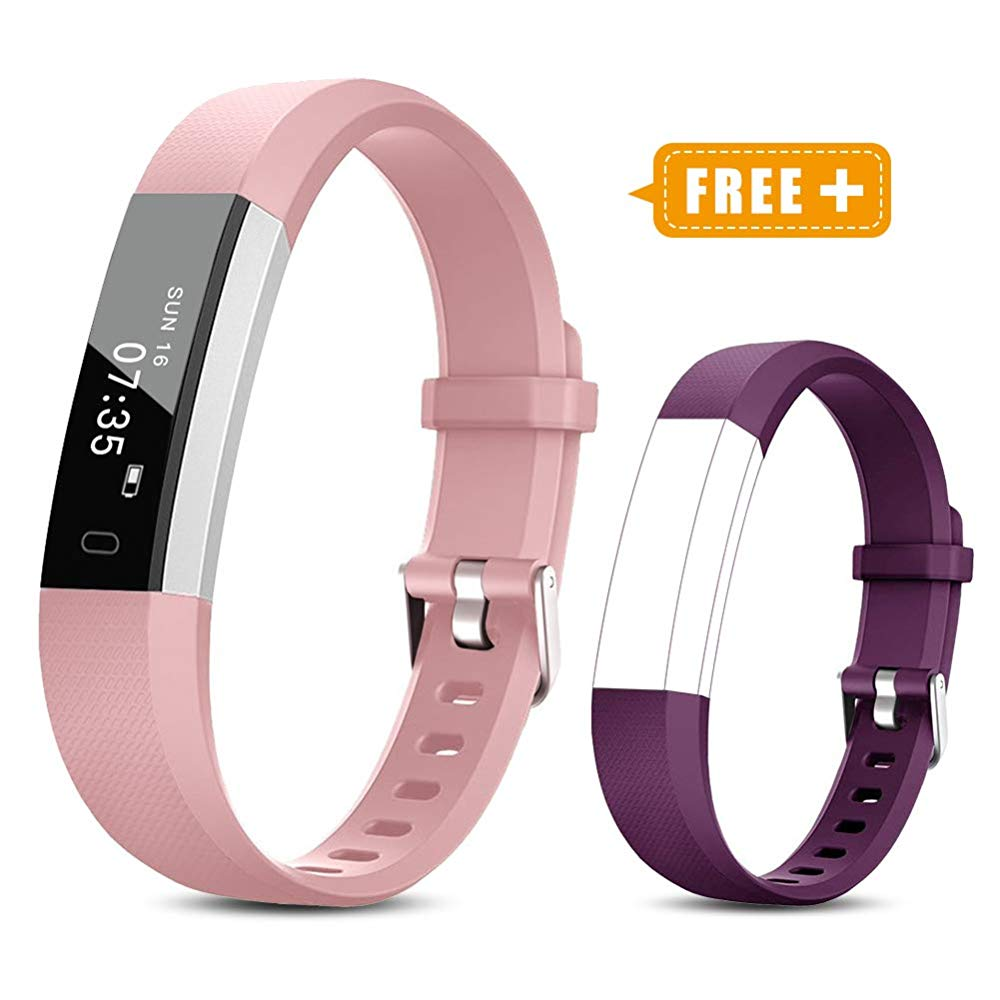 Toobur Activity Tracker, Slim Waterproof Fitness Tracker Watch with Pedometer Calories and Sleep Monitor, Step Counter Wristband Smart Watch for Girls