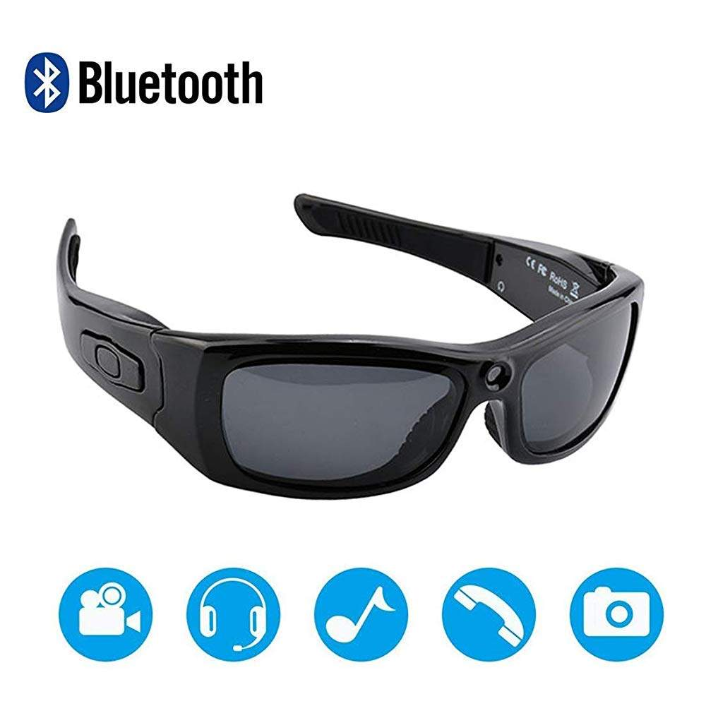 Newwings Bluetooth Sunglasses Camera Full HD 1080P Video Recorder Camera with UV Protection Polarized Lens