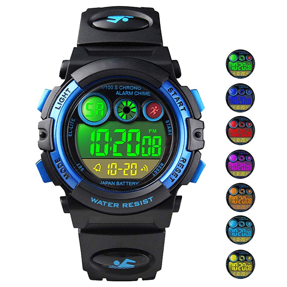 Kid Watch For Boy Child Multi Function Digital LED Sport 50M Waterproof Electronic Analog Quartz Watches Gift