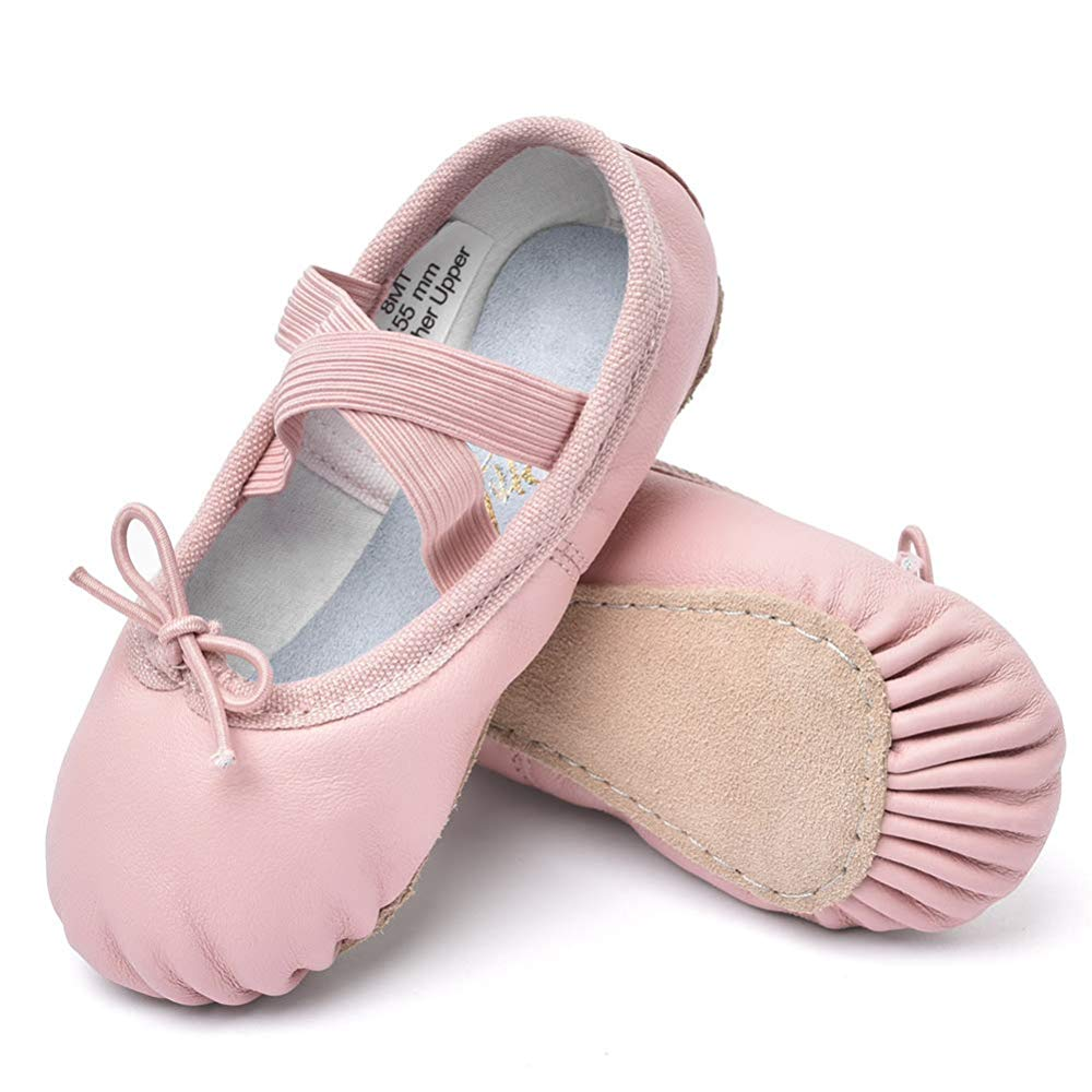 STELLE Girls Premium Leather Ballet Shoes Slippers