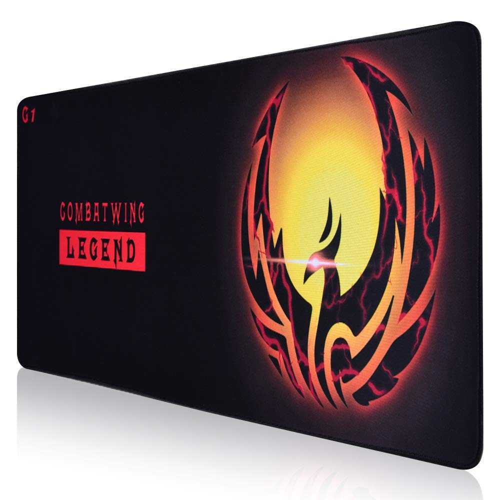 Extended Gaming Mouse Pad, 3XL Thick Computer Mousepad, Large Keyboard Mouse Mat with Non-Slip Base, Waterproof Premium-Textured Cloth, Anti-Fray Stitched Edges for Gamer, Office & Home, 30x12x1.5 inch