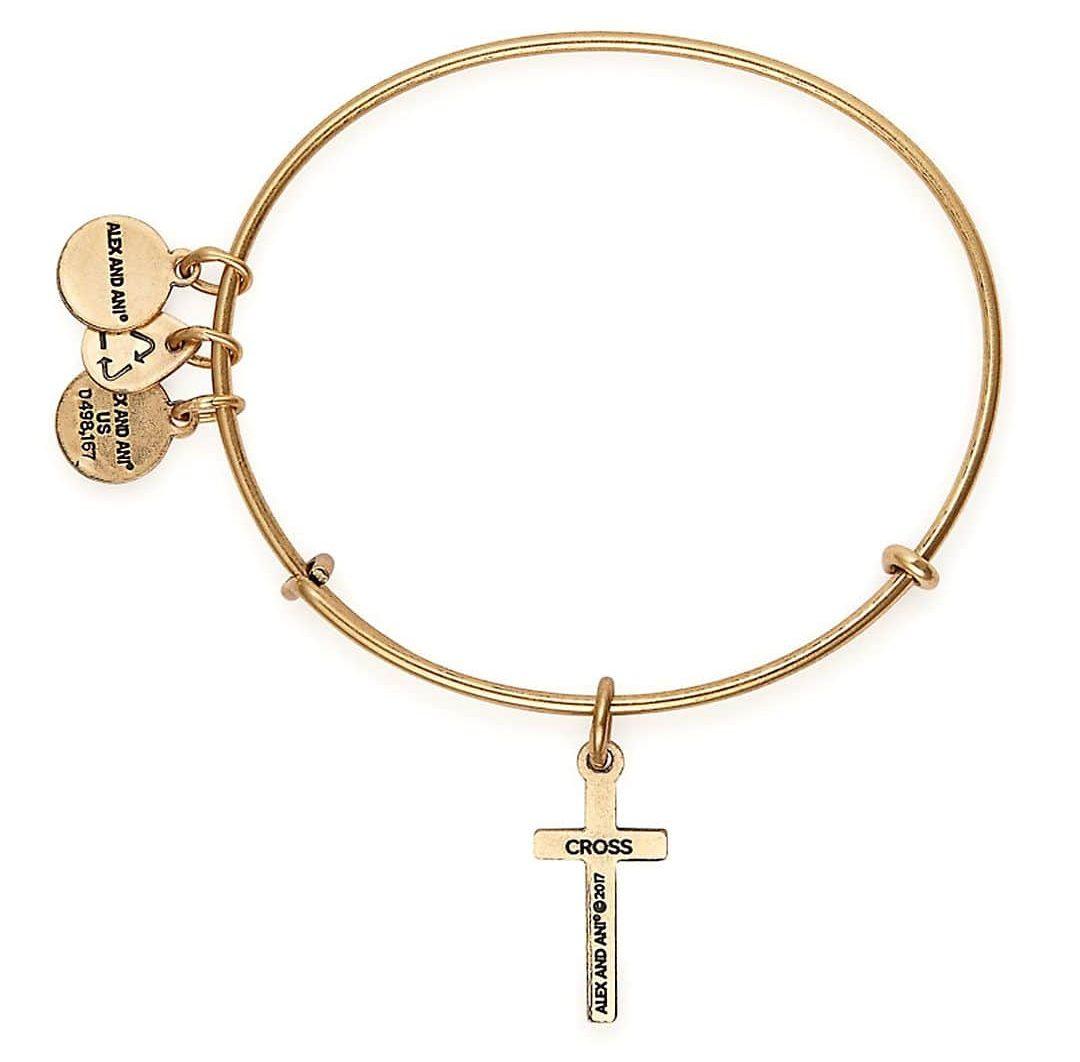 Alex and ANI Women's Cross II EWB Bangle Bracelet, Expandable