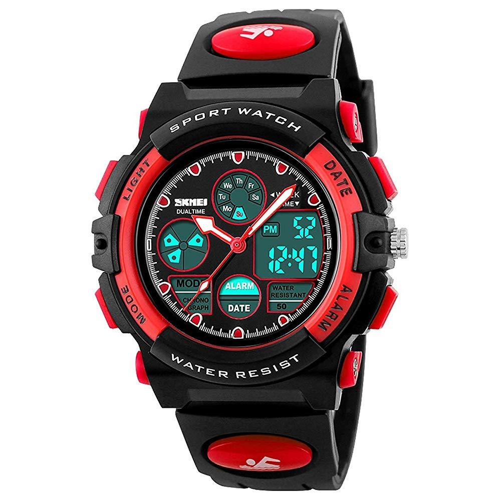 Kids Digital Sport Watch, Boys Waterproof Sports Outdoor Watches Children Casual Electronic Analog Quartz Wrist Watches with Alarm Stopwatch