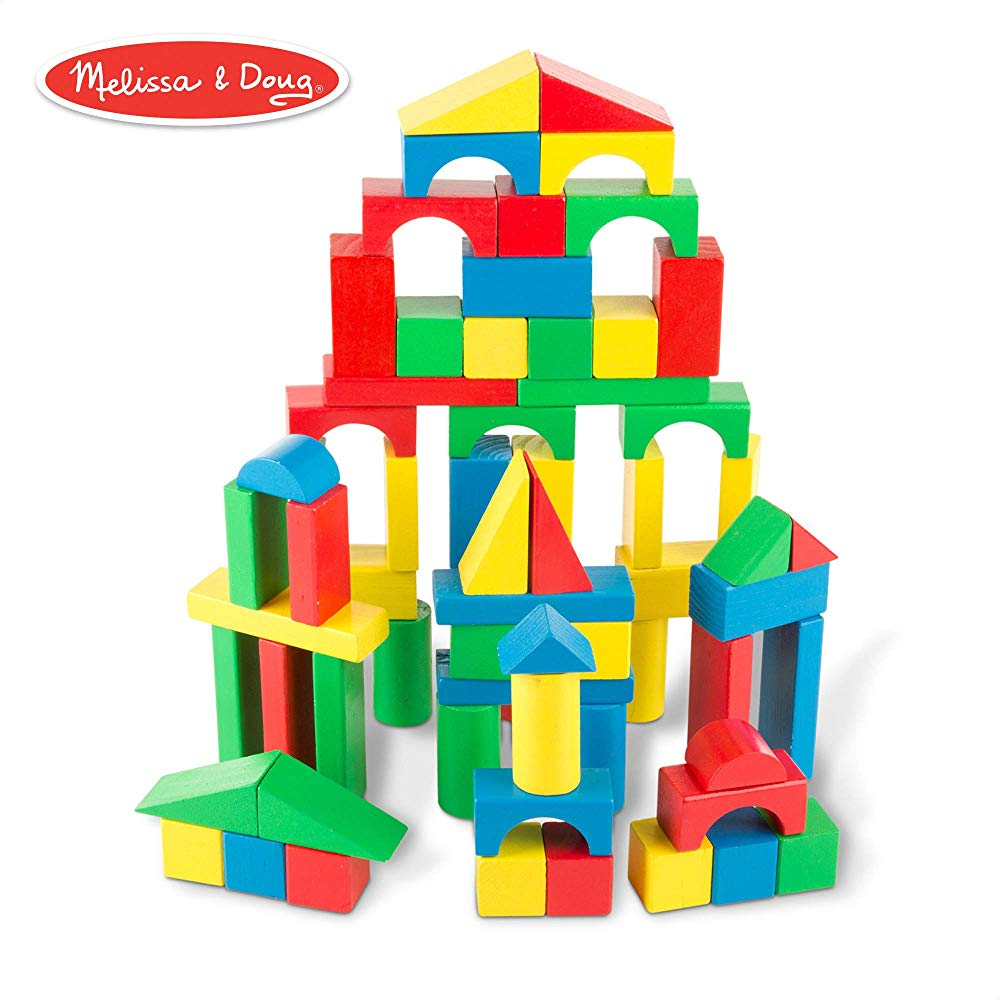 Melissa and Doug Wooden Building Block Set