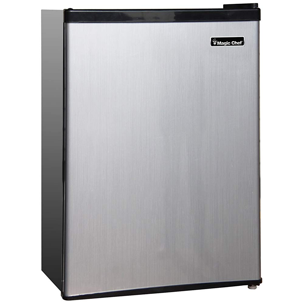 Magic Chef MCBR240S1 Refrigerator, 2.4 cu.ft, Stainless Steel