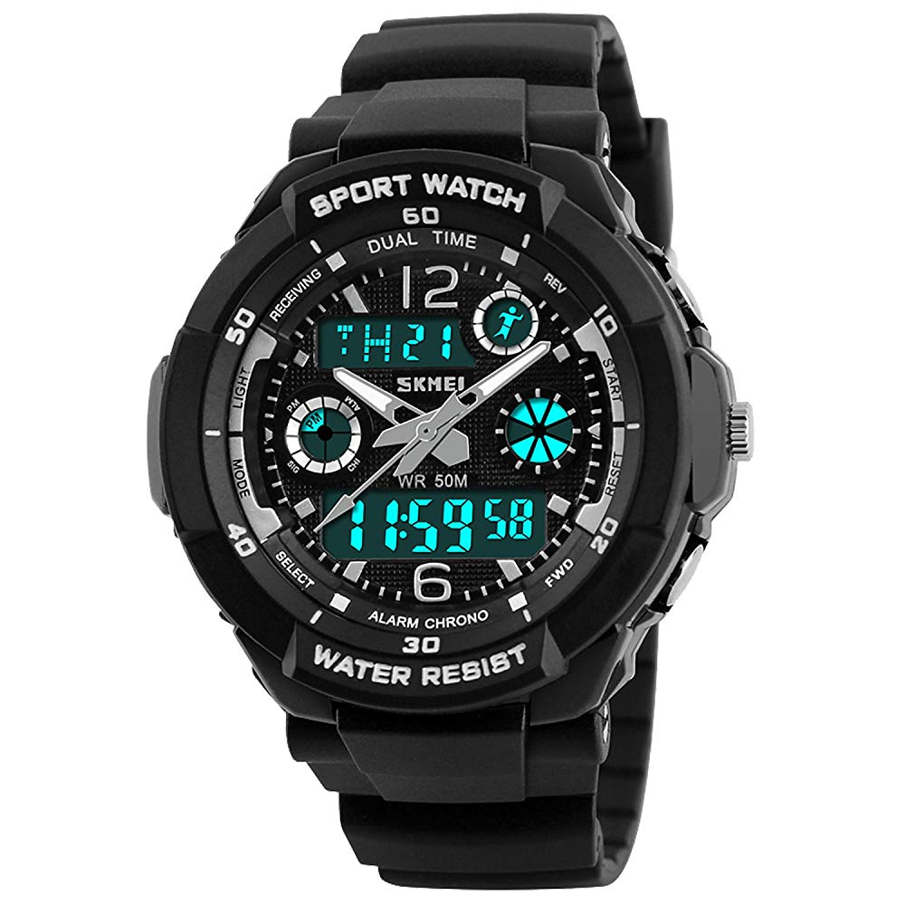 Kid Watch Multi Function Digital LED Sport 50M Waterproof Electronic Analog Quartz Watches for Boys