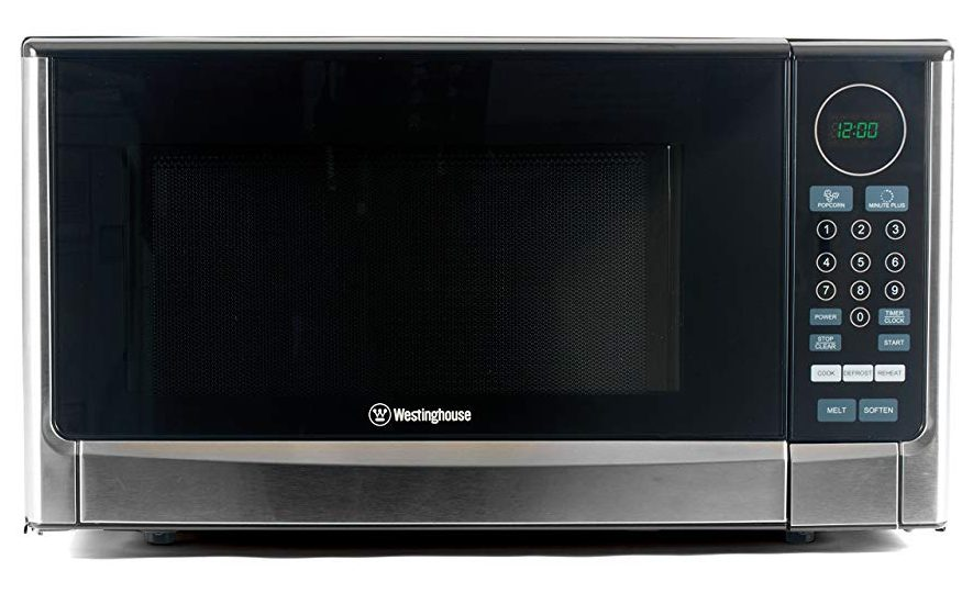 Westinghouse WCM14110SS 1100 Watt Countertop Microwave Oven, 1.4 Cubic Feet, Stainless Steel Front, Black Cabinet