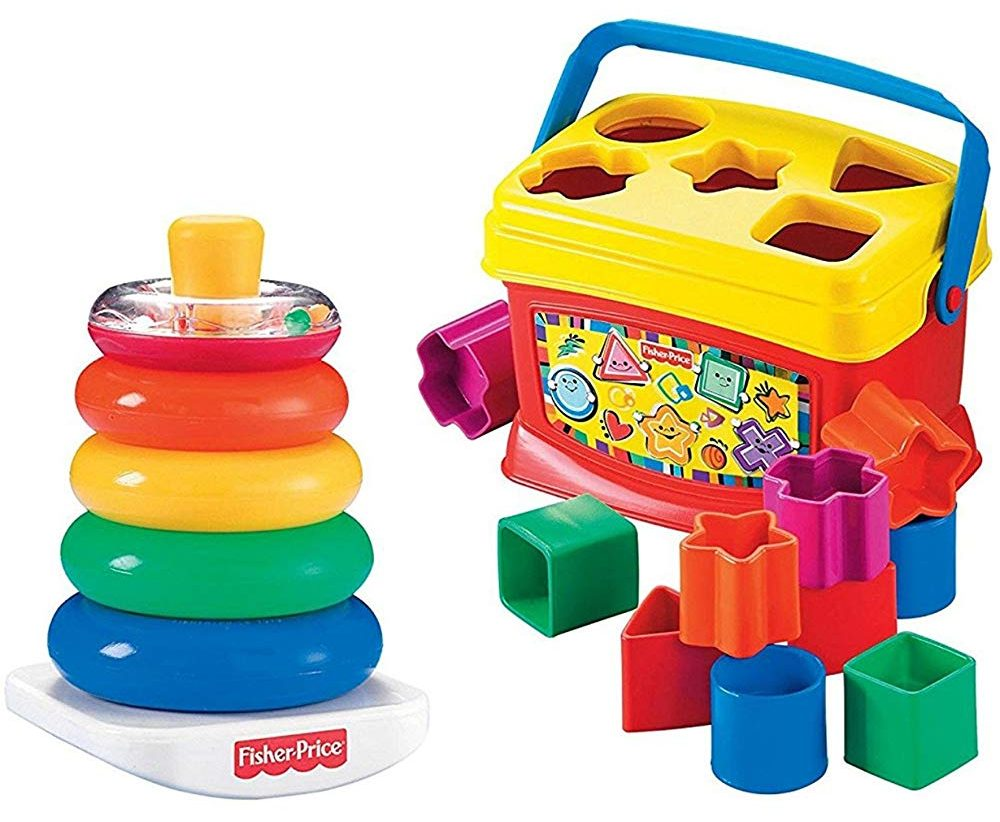 Fisher Price Rock-a-Stack and Baby's First Blocks
