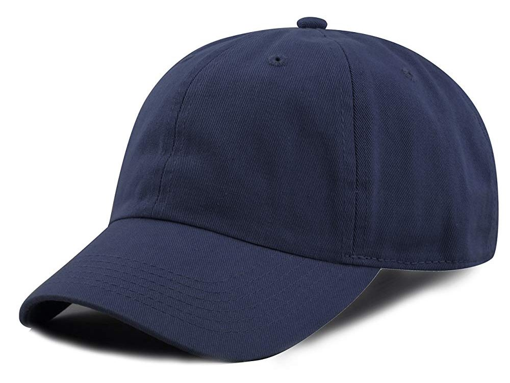 The Hat Depot Kids Washed Low Profile Cotton and Denim Plain Baseball Cap