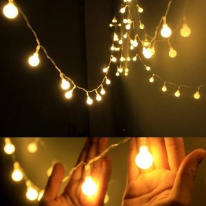 2M 10LED Warm White String Fairy Lights