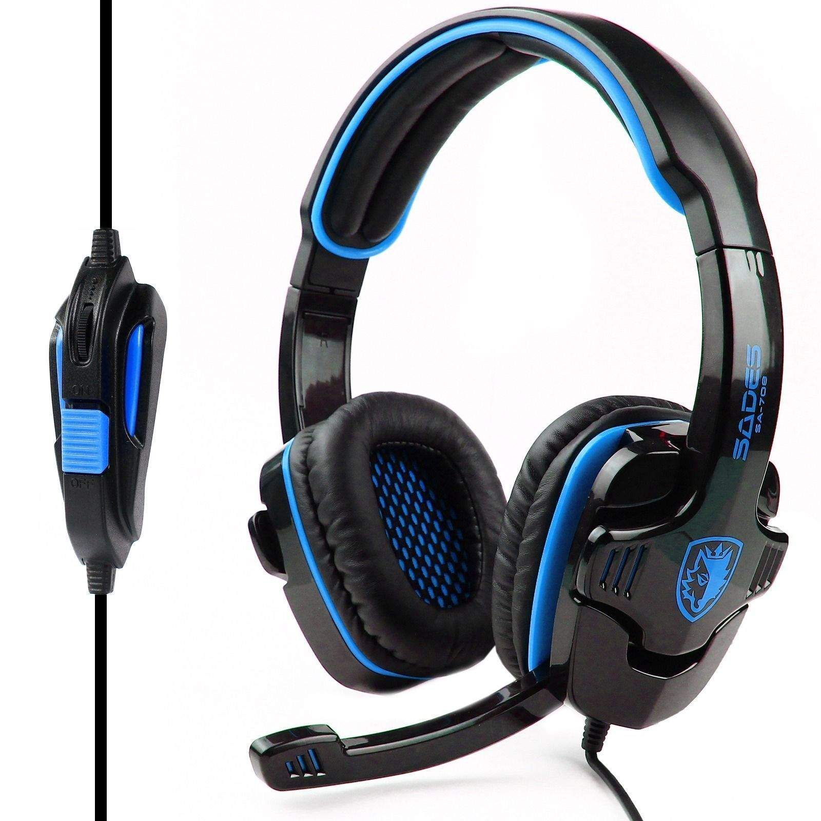 SADES ME333 Gaming Headset GT Stereo HiFi Gaming Headset Headphone with Microphone for PS4 Xbox360 PC, Mac, SmartPhone