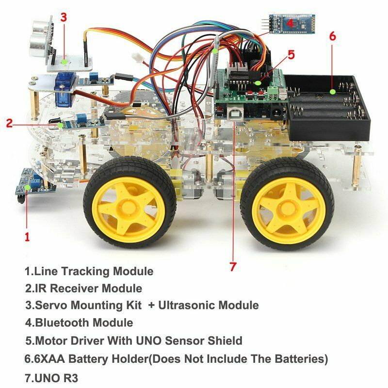 Turobot 4WD Arduino Smart Car Robot