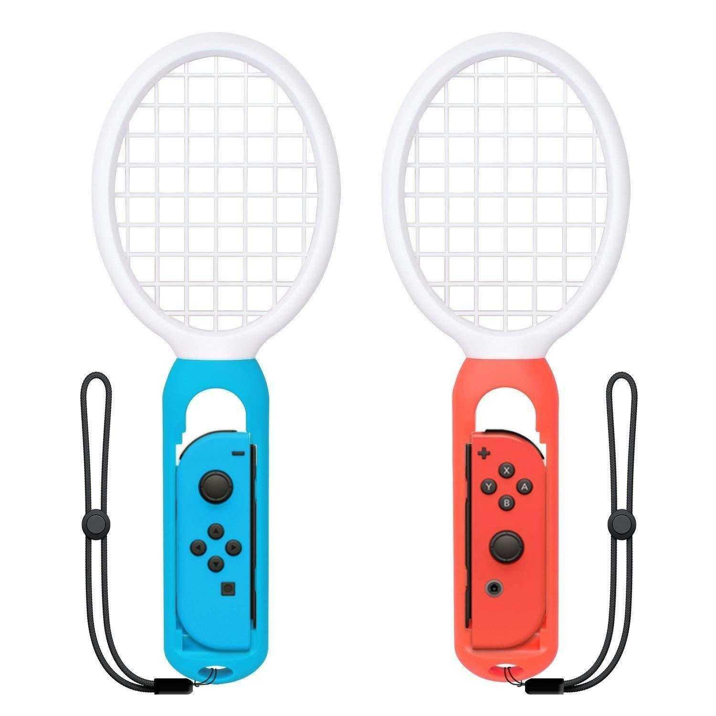 2PC Tennis Racket For Nintendo Switch Joy-Con Controller Tendak Game Accessories