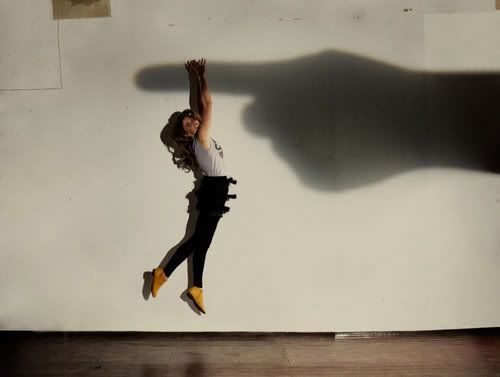 Create a shadow with the help of your camera flash to take interesting photos