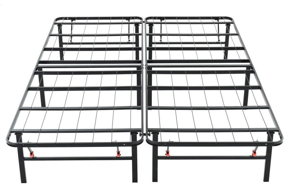 Classic Brands Hercules Heavy-Duty 14-Inch Platform Metal Bed Frame | Mattress Foundation, Queen