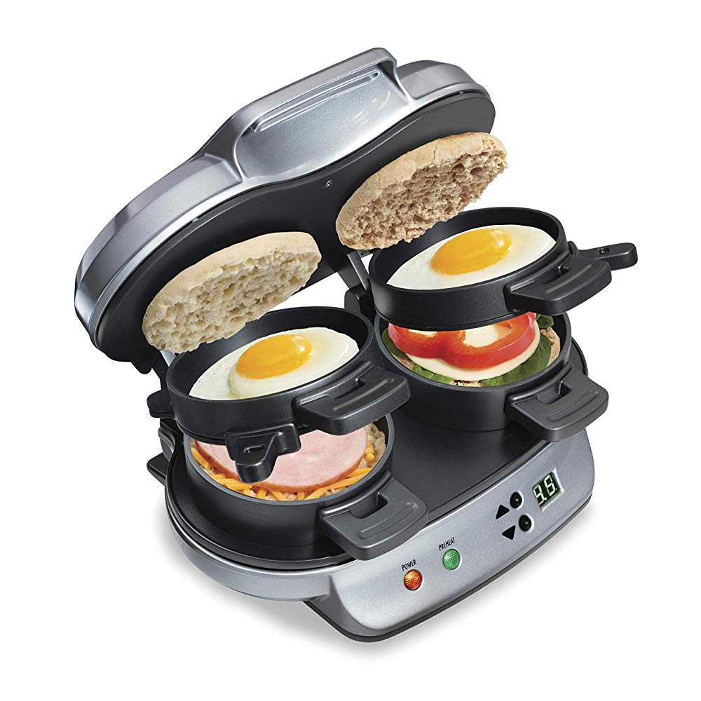 Hamilton Beach Dual Breakfast Sandwich Maker With Timer