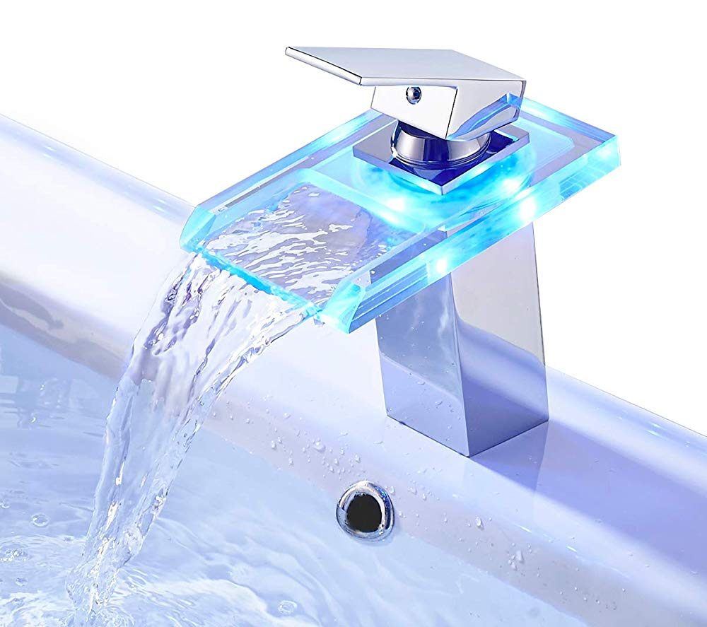 Waterfall Faucet With LED Lights