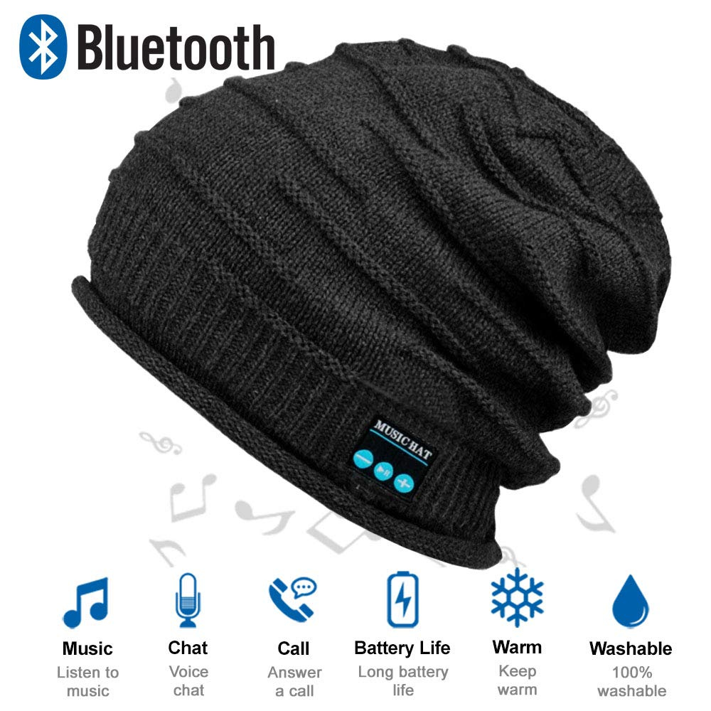 beanie with built in headphones