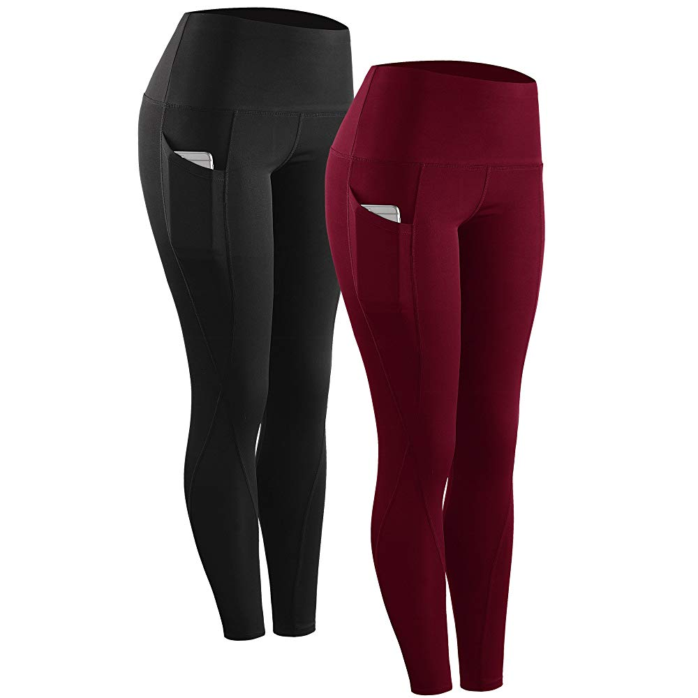 Neleus High Waist Running Workout Leggings