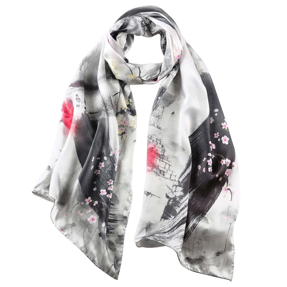 Women's Silk Scarf Fashion Sunscreen Shawls Wraps For Headscarf & Neck