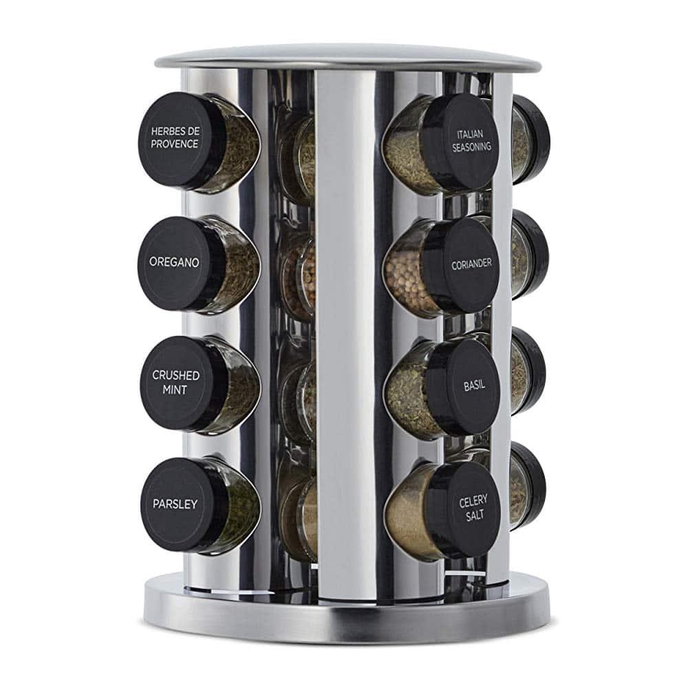 Revolving 16-Jar Spice Rack