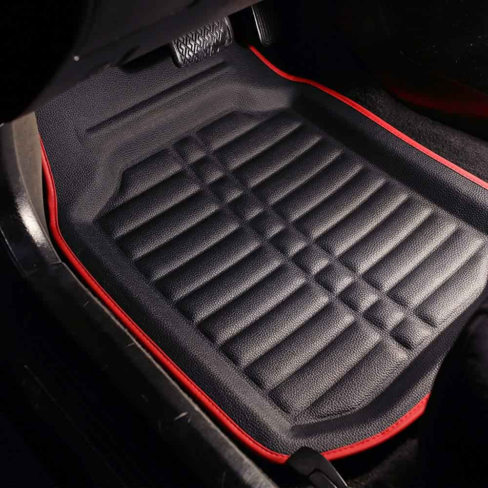 Custom Accessories Black Armor All 78840ZN 4-Piece Season Rubber Floor Mat