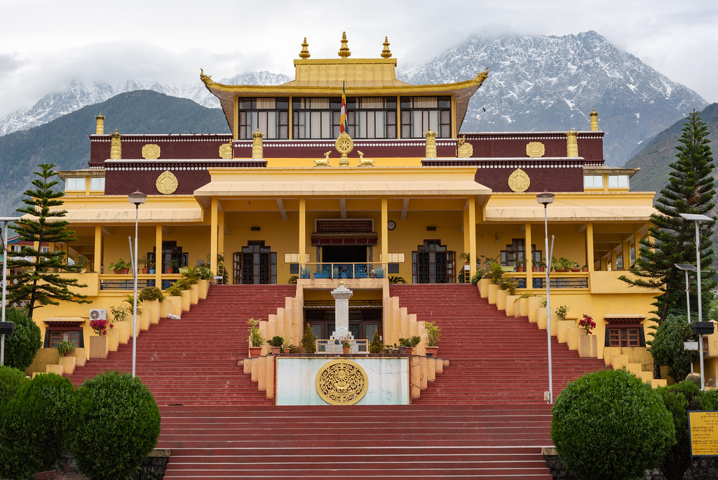 The place is surrounded by a dense cover of greenery which includes deodar and cedar trees.  This place is the seat of the 14th Dalai Lama of the Tibetan sect of Buddhism.