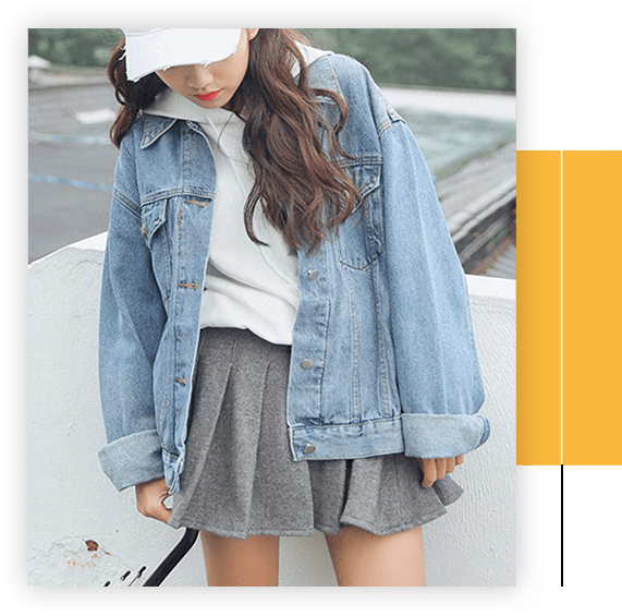 Oversized Denim Jacket For Women Long Sleeve Boyfriend Jean Jackets Loose Coat