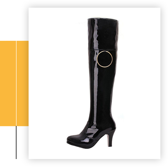Women Fashion High Heel Over The Knee Boots Ring