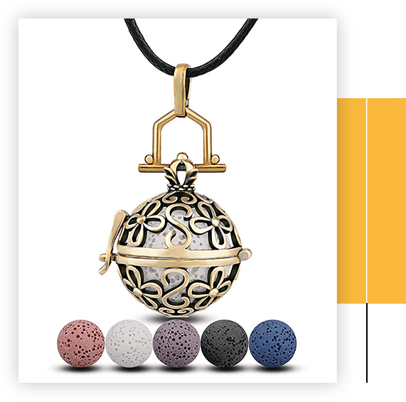 Harmony Floating Locket Women Aromatherapy Essential Oil Diffuser Pendant Necklace