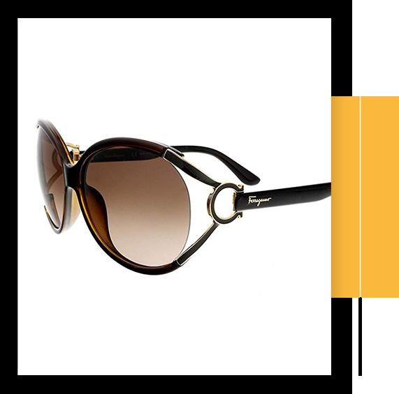 Salvatore Pearl Dark Brown Sunglasses