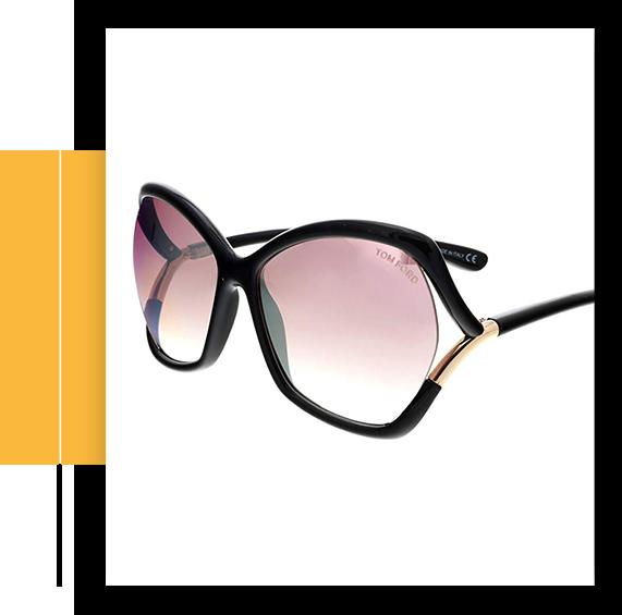 Astrid-02 Black / Purple Lens Mirror Sunglasses