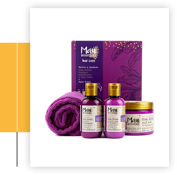 Shea Butter Hair And Towel Gift Set