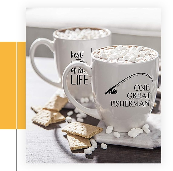 One Great Fisherman, Best Catch Of His Life Coffee Mug Set