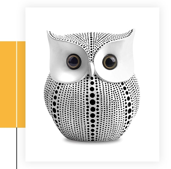 Owl Statue Decor Small Crafted Buho Figurines