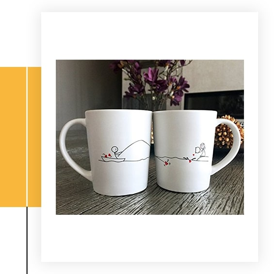 Catch My Heart His and Her Coffee Mugs