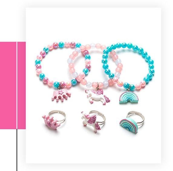 Unicorn Bracelet Ring Set