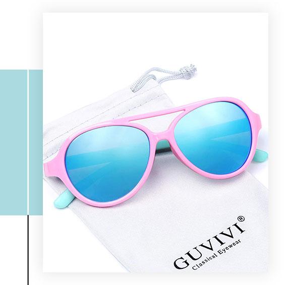 GUVIVI Polarized Kids Aviator Sunglasses