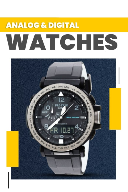 Mix of Tradition and Modern with Analog & Digital Watches