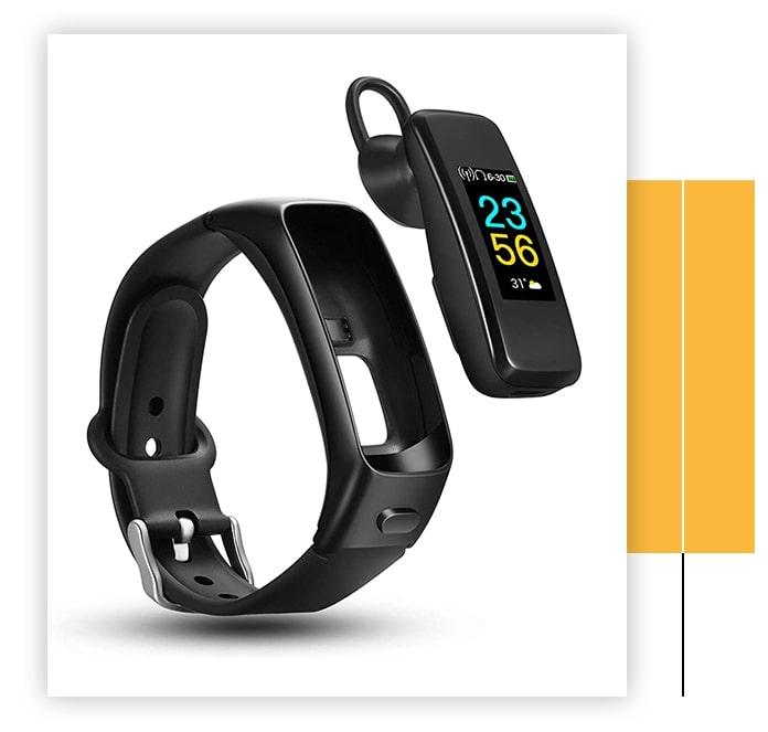 Odfit 2 in 1 Bluetooth Headphone Fitness Bracelet