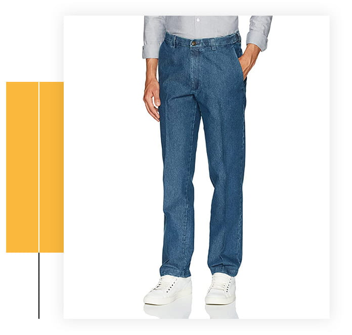 Haggar Men's Expandable Flat Front Pant