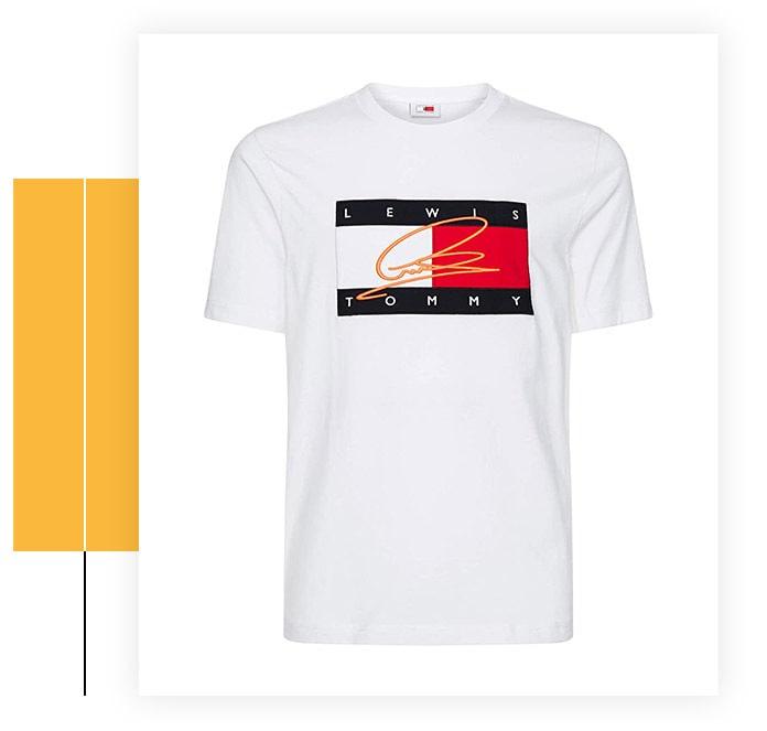 Tommy Hilfiger Men's Lewis Hamilton Signature Logo T-Shirt