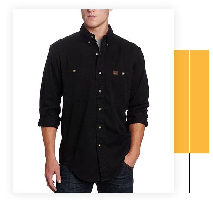 Wrangler Riggs Workwear Men's Logger Twill Work Shirt