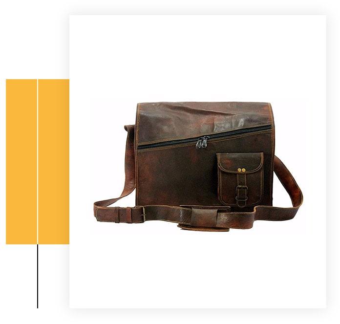 Handmade World Vintage Laptop Leather Messenger Bag
