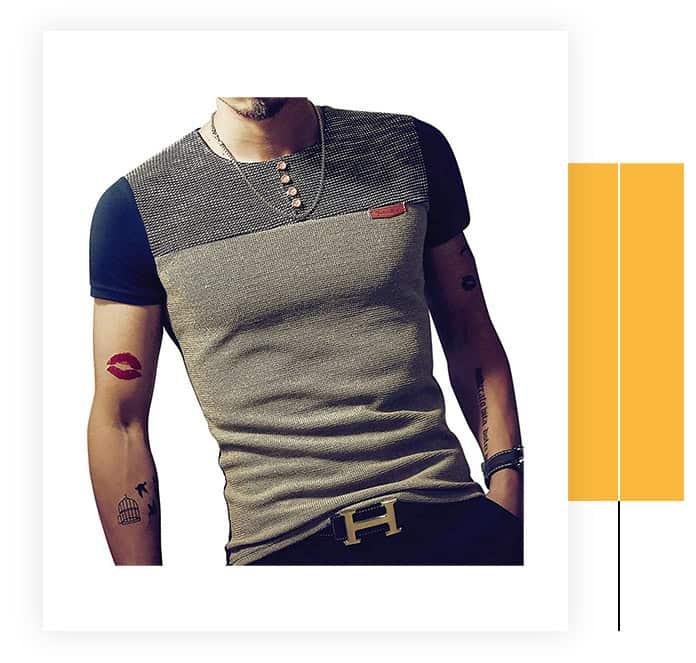 Logeeyar Men's Casual Slim Fit T-Shirt