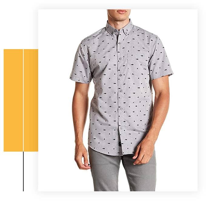 Visive Men's Short Sleeve Printed Shirt
