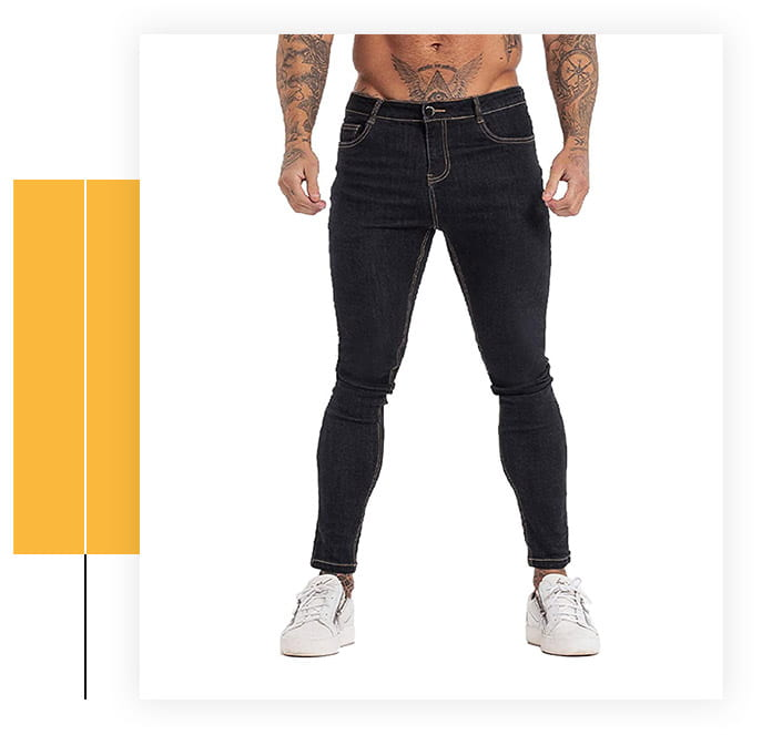 GINGTTO Men's Skinny and Tapered Leg Jeans