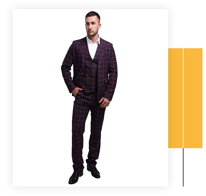 MOGU Men's Suit - 3 Piece Set