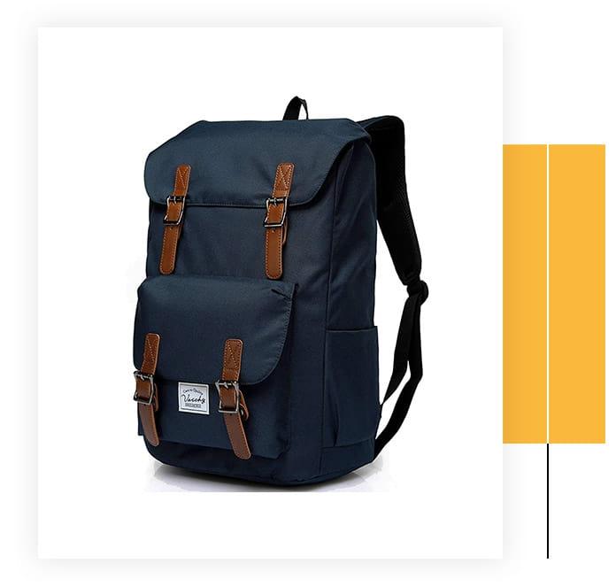 VASCHY Men's Water-Resistant Backpack
